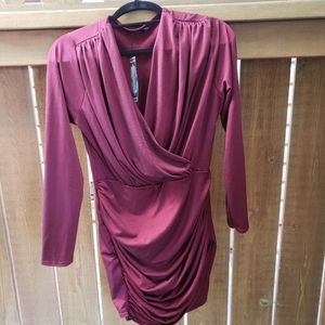 Burgundy Dress - Brand New with Tags
